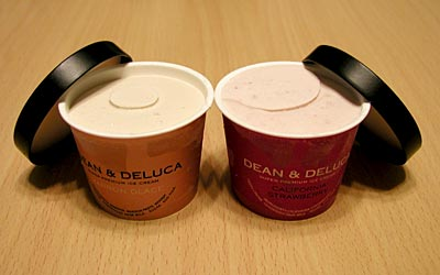DEAN&DELUCAのアイスクリーム・マロングラッセ、カルフォルニアストロベリー